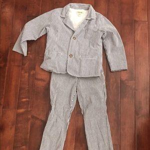 Navy blue Cherokee 5T Seersucker suit